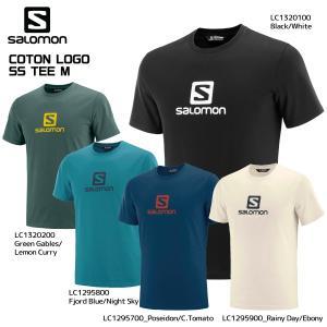 SALOMON(サロモン)【2019/アウトドアTシャツ】 COTTON LOGO SS TEE(コットン ロゴティー)【スポーツTシャツ】|linkfast