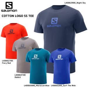 SALOMON(サロモン)【在庫処分/アウトドアシャツ】 COTTON LOGO SS TEE(コットン ロゴティー)【スポーツTシャツ】|linkfast