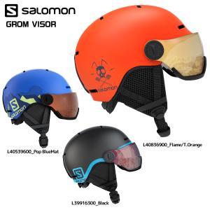 18-19 SALOMON(サロモン)【Helmet/数量限定】 GROM VISOR (グロム バイザー)【ジュニア/スノーヘルメット】 linkfast