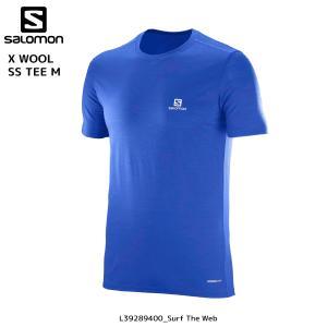 SALOMON(サロモン)【在庫処分/アウトドアシャツ】 X WOOL SS TEE M(Xウール ショートスリーブティー メンズ)【ハイクTシャツ】|linkfast