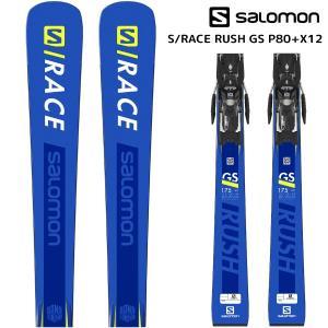 18-19 SALOMON(サロモン)【在庫処分/スキー板】 S/RACE RUSH GS P80 + X12 LAB(エスレースラッシュGS P80 金具付)【金具取付無料】|linkfast