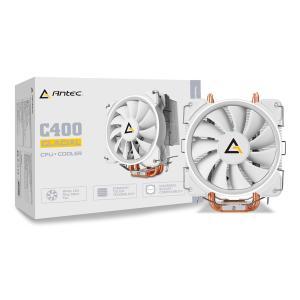 Antec ホワイトLED搭載 サイドフロー型 空冷CPUクーラー C400 Glacial ホワイト|linksdirect