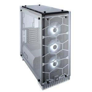 ■箱破損品(新品) ■CORSAIR RGBファン標準搭載 強化ガラス採用 ATX対応ミドルタワーPCケース 570X RGB WHITE (CC-9011110-WW) ホワイト|linksdirect