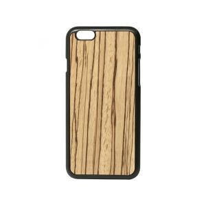 ■ワンコイン100円!! ■Lazerwood リアルウッド採用のiPhone 6/6sシェルケース A7000-Zebrawood snap case|linksdirect