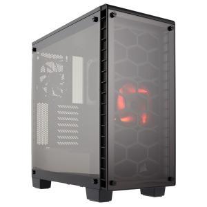 CORSAIR 強化ガラスを採用したATX対応ミドルタワーPCケース CC-9011099-WW (460X) レッドLEDファン搭載|linksdirect