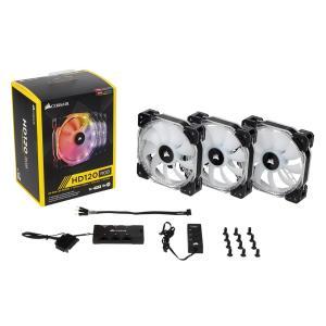 CORSAIR PCケースファン LEDのRGB制御に対応した120mm高静圧ファン CO-9050067-WW (HD120 RGB LED Pack) ファン3個とLEDコントローラ同梱のバリューパッケージ linksdirect
