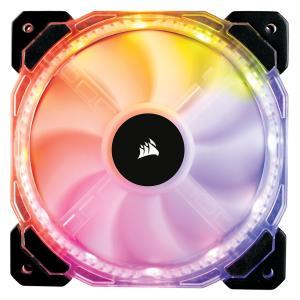 CORSAIR RGB LED制御に対応した140mm高静圧ファン HD140 RGB LED (CO-9050068-WW) ファン1個の増設用モデル linksdirect