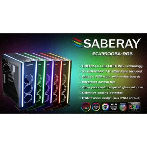ENERMAX RGB Sync対応のハイエンドゲーミングPCケース SABERAY ECA3500BA-RG linksdirect