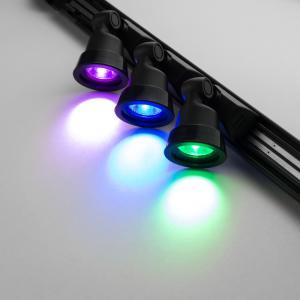 (終息)リンクス USBスポットライト PCケースドレスアップ照明用、ミニレールライト HL-RAILSET-3LEN-4COL 4色レンズ同梱(レッド、グリーン、ブルー、パープル)|linksdirect