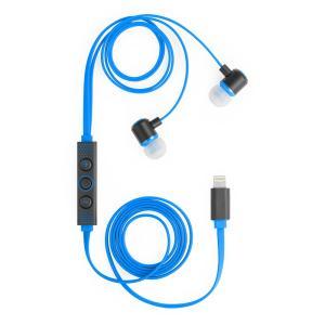 リンクス 正規MFi認証取得 Lightningコネクタ接続のイヤホン ICEP-LT-04-BL ブルー|linksdirect