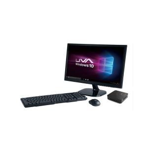 【液晶モニタ・マウス・キーボー ドセット】ECS Windows10 Home搭載 Apollo Lake世代の小型デスクトップパソコン LIVAZ-4/32-W10(N3350) PC SET|linksdirect