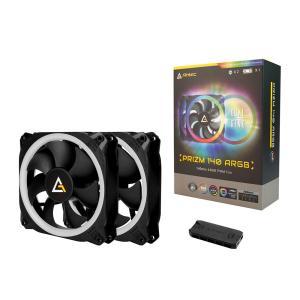 ANTEC デュアルリングデザインを採用したアドレッサブルRGBファン Prizm 140 ARGB 2+C 140mmファン2個+専用ファンコントローラ linksdirect