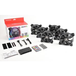 ENERMAX 独特のハロアーク型フレーム採用の4-ring RGB LEDファン UCTBRGB12-BP6(6 fan packege) リモートコントロールユニットとファン6個のセット|linksdirect