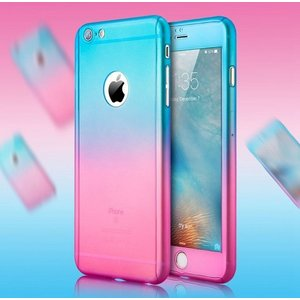 iPhone6/6S ケース フルカバー グラデーション 360度 カバー TPU 送料無料|linofle