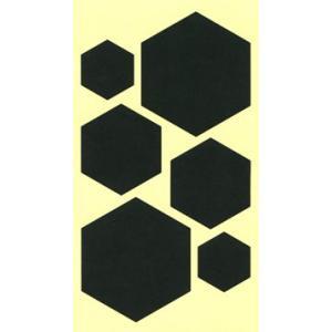 ちょっと障子・ふすまシール亀甲(ブラック)黒4シート入|lintec-c|03