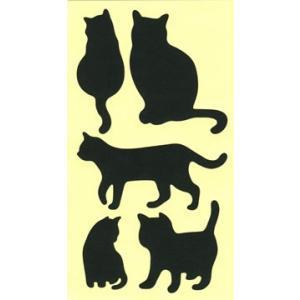 ちょっと障子・ふすまシール黒猫4シート入|lintec-c|03