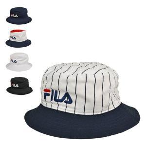 フィラ・コットンツイル・バケットハット 綿 洗える おしゃれ ロゴ刺繍 メンズ レディース 帽子|lion-do