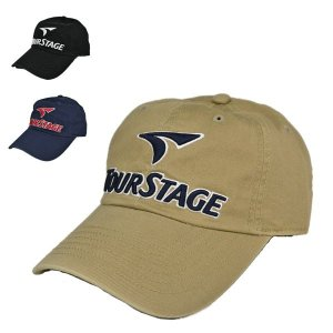 ツアーステージ コットンツイルキャップ つば長 ゴルフ 深め 洗える サイズ調整 綿キャップ 帽子|lion-do