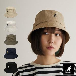 カンゴール 帽子 ウォッシュド バケットハット KANGOL バケハ 黒 白 大きいサイズ|lion-do