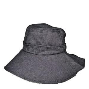 ライトデニム・レディースUVハット セール 婦人帽 広つば 紫外線対策 たれ付き 首筋保護 日よけ 春夏|lion-do