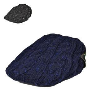 ドネガルツイード・ニットハンチング 秋 冬 メンズ あったかい ブラック 黒 ネイビー 紺 おしゃれ 帽子|lion-do