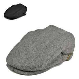 メルトンハンチング 秋冬 おしゃれ メンズ レディース 黒 グレー シンプル 帽子 lion-do
