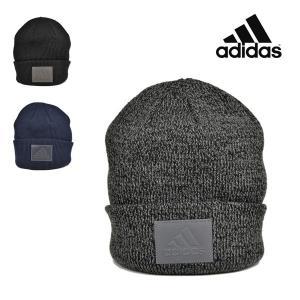 アディダス ポリジン パッチラベルワッチ/adidas 秋冬 おしゃれ ゆったり あたたかい ロゴ 洗える ニット帽 メンズ 帽子|lion-do