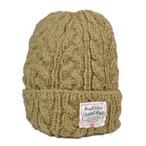 ハンドメイド・アランケーブル・ワッチキャップ 手編み カラフル 単色 ニット帽 帽子|lion-do
