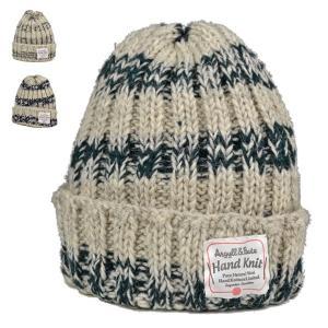 ハンドメイド・ボーダー・ツーバイツー・ニットワッチ 手編み 秋冬 メンズ レディース ニット帽 帽子|lion-do