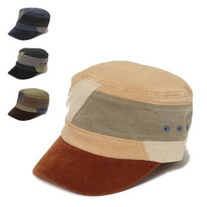 トーン・ワークキャップ パッチワーク キャンバス生地 オールシーズン メンズ レディース 帽子|lion-do