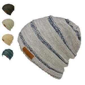 ボーダーワッチ・スモーキー ニット帽 サマーニット メンズ 夏 夏用 レディース 涼しい