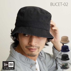 ニューエラ バケットハット BUCKET-02 メンズ レディース 帽子 つば 短い 深め|lion-do