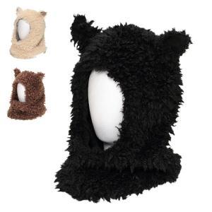 アルパカフード・ワッチ 動物 アニマル ふわふわ イベント パーティ あったかい かぶりもの 冬 帽子|lion-do