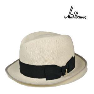 ミュールバウアー・ペーパーパナマ・フェドラハット 春夏 高級 ブランド メンズ レディース 送料無料 白 ホワイト 帽子|lion-do