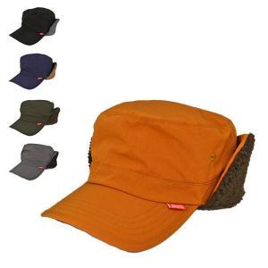 【2つで送料無料】耳あて付きキャップ  帽子 イヤー ボア ワッシャーポリレイル ワークキャップ メンズ レディース|lion-do