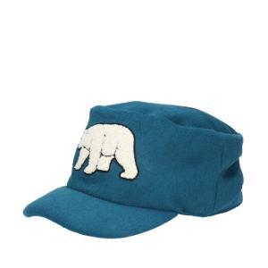アニマルキャップ・ビー 秋冬 ワークキャップ 白くま シロクマ メンズ レディース 帽子|lion-do