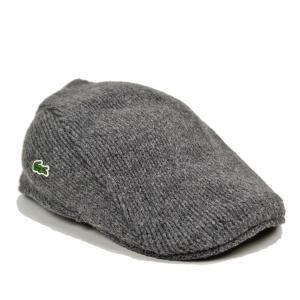 ラコステ・ウールニットハンチング/LACOSTE 秋 冬 あったかい 紳士 メンズ 鳥打帽 洗える 帽子|lion-do
