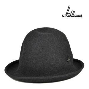 ミュールバウアー・ファーフェルトハット・チャコールグレー/MUHLBAUER 秋冬 ハット ブランド 高級 メンズ レディース 帽子|lion-do