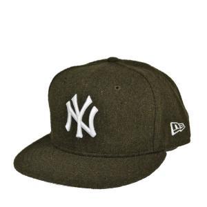 ニューエラ 5950 ビンテージフランネルキャップ・ニューヨークヤンキース・オリーブ|lion-do