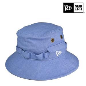 ニューエラ・アドベンチャー・ハット・カラーデニム・ブルー/NEW ERA 57cm SMサイズ パステルブルー パステルカラー フェス 帽子|lion-do