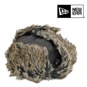 ニューエラ・トラッパー・耳当て付き・ヘザー・ブラック/NEW ERA 防寒 飛行帽 あったかい メンズ レディース 大きいサイズ 送料無料 帽子 lion-do