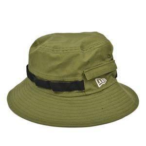 ニューエラ アドベンチャーハット キャンバスオリーブ/NEW ERA 小さいサイズ 大きいサイズ S M L XL アウトドア フェス たためる 送料無料 帽子|lion-do