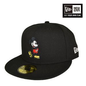 ニューエラ 59FIFTY キャップ ディズニー ミッキーマウス ブラック メンズ レディース|lion-do