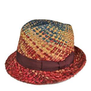 エチェンゴン・ハーフミックスハット 天然草 手編み ハンドメイド メンズ レディース 春夏 グラデーション カラフル 帽子|lion-do