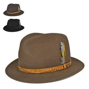 ステットソン・オールダウン・フェルトハット 高級 ブランド 大きいサイズ 62cm メンズ 紳士 カジュアル 中つば 帽子|lion-do