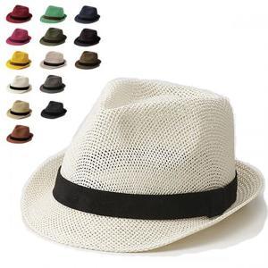 8522ハットネオ ハット メンズ 夏 レディース 中折れペーパーハット 夏用 ストローハット 男 女 白 黒 赤 帽子|lion-do