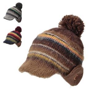 カンフィーワッチ 秋冬 ポンポン ニット帽 小さめ 小さいサイズ かわいい カラフル 帽子|lion-do