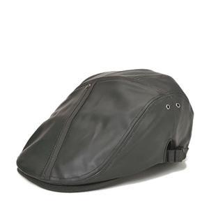 フライハンチング・ゴウヒ 帽子 メンズ レディース レザー 革 ブラック 黒|lion-do