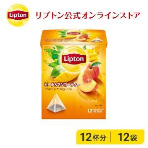 (公式) リプトン  ピーチ&マンゴーティー ティーバッグ ピラミッド型 2g×12袋  紅茶  lipton|lipton-jp