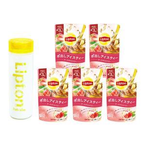 (公式) リプトン フルーツインティー定番セットA2(アイス用タンブラー1個とコールドブリュー パイナップル&ハイビスカス6個セット) lipton-jp